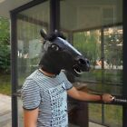 Cosplay Halloween Horse Head Mask Latex Animal ZOO Party Costume Prop Toys WL