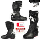 Motorbike Leather Spyke Totem Sports Race Bike Protection Boot - All Black