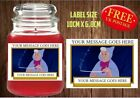 Personalised Fairy Godmother Candle Label/Sticker Perfect Birthday Gift Idea