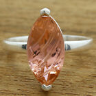 Simulated Peach Morganite 925 Sterling Silver Ring Jewelry Size 6-9 DGR1077_D