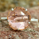 Simulated Peach Morganite 925 Sterling Silver Ring Jewelry Size 6-9 DGR1081_A