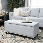 Storage Bench Ottoman Bedroom Upholstered Furniture Seat End Of Bed 3 Colors!