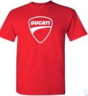 DUCATI LOGO T Shirt red SIZE: S THRU 2XL FREE SHIPPING