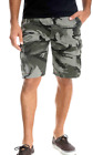 Wrangler Camo Cargo Shorts Relaxed Fit Hits At Knee Sizes 34-48 Black Camouflage