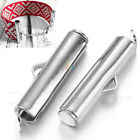 Slide On End Clasp Tubes Slider End Caps 20mm Jewellery Findings  Silver Tone