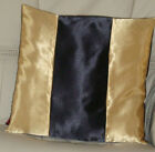 GOLD AND BLACK SATIN CUSHION COVER