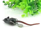 Large Soft Rubber Mouse Fishing Lures Baits Top Water Tackle Hooks Bass Bait