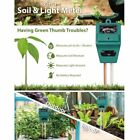 3 in 1 PH Tester Soil Water Moisture Test Meter for Garden Plant Flower IC