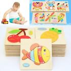 Animals Wooden Blocks Toddler Baby Kids Child Educational Toy Puzzle US