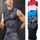 Men's Compression Tops Sports Workout Tank Top Dri fit Printed Sleeveless Shirts