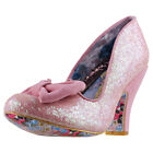 Irregular Choice Nick Of Time Womens Pink Synthetic Casual Shoes Slip-on
