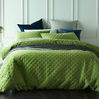NEW Mossy Road Diamond Quilted Velvet Quilt Cover Set