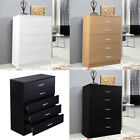 Chest Of 5 Drawers Anti-bowing Drawer Same Size Draws Cabinet Storage Side Unit