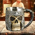 3D Resin Skull Mug Tankard Striking Skull Warrior Cup Gothic Helmet Knight Vesse
