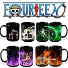 Luffy Zoro Ace Anime Coffee Mug Color Change Magic Ceramic Cup