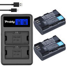 2x LP-E6 LPE6 Battery  Dual Charger For Canon EOS 5DS 5D Mark II Mark III 6D 7D