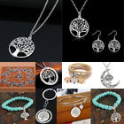 925 Silver Tree Of Life Pendant Charm Necklace Bracelet Earrings Women Jewelry