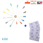 10x - 100x KDM NEEDLES + SWABS 70% ALCOTIP 13 SIZES BLUE GREEN ORANGE CYCLE