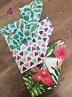 3 Pack Large Printed Muslin Squares 80x70cm Baby Cloth Reusable Nappy Bibs Wipes <br/> SUPER SOFT, BURP CLOTH, BABY BLANKET, 100% COTTON