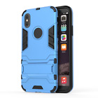 For iPhone X 8 7 6 6s Plus Shockproof Hybrid Armor Rugged Case Kick-Stand Cover