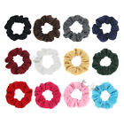 2pcs Thin Cotton Scrunchies Solid Ponytail Holder Hair Tie Women Hair Accessory