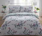 Beautiful Floral Aviary Bird Polycotton Duvet Quilt Cover Pillowcase Bedding Set