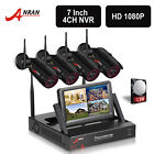"""ANRAN 4CH 1080P 7""""LCD NVR Wireless Camera Security Systems 4x 960P CCTV Outdoor"""