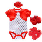 Baby clothes newborn baby girls 0-3 bodysuit headband shoes baby shower gift