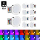 10W RGB Round Dimmable Ultra-thin LED Panel Light for Living Room Kitchen Light