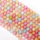 Loose Snow Cracked Round Multicolor Faceted Quartz Crystal Spacer Beads 6-12MM