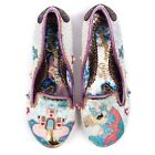 Irregular Choice Little Misty Womens White Multicolour Walking Shoes New Style