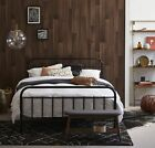 NEW Black Bailey Metal Bed Frame Temple & Webster Beds