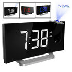 5 Screen LCD Digital LED Projector Projection FM Radio Snooze Alarm Clock 2018