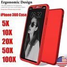 Lot Scant Full Cover Hard Slim Case+Tempered Glass Conceal Film For iPhone X Red