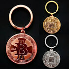 Bitcoin 1oz Commemorative Round Collectors Coin Bit Coin Key Ring Keychain Gifts