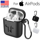 Silicone Cover Skin Case w/ Anti-lost Carabiner for Apple AirPods Protective USA