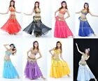 Brand New Sexy Belly Dance Costume Set Top & Skirt 9 Colors Free Shipping