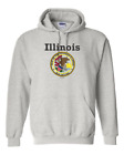 Gildan Hoodie Pullover Sweatshirt City State Country Illinois State Seal 2018