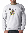 Gildan Crewneck Sweatshirt City State Country Illinois State Seal 2018