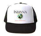 Trucker Hat Cap Foam Mesh City State Country Indiana Seal Home Sweet Home