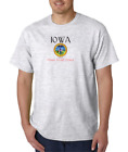 USA Made Bayside T-shirt City State Country Iowa Seal Home Sweet Home