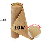 1/2/3/5 Rolls 10M Hessian Table Runners Hessian Roll Fabric Burlap Jute Rustic