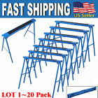"39.2"" Pair of 2 Heavy Duty Saw Horse Steel Portable Folding Legs Sawhorse LOT TO"
