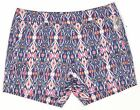 Willi Smith Flat Front Casual Shorts Womens Navy Multi NEW 7380