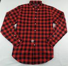 Polo Ralph Lauren Men's Button Down Flannel Shirt Plaid Checkered Gingham