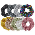 1 Sequin Hair Scrunchie Ponytail Holder Paillette Hair Ties Party Hair Accessory