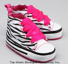 Zebra Hot Pink Sneaker Crib Shoes Infant Girls Safari 1st Birthday Party Baby