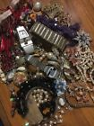 House Clearance  broken Jewelry job lot inc 925 Silver, gemstone beads, cameoOther Vintage Jewellery - 11020