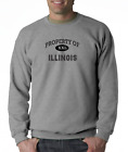 Gildan Crewneck Sweatshirt USA State Property Of Illinois