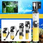 3 in 1 Mini Aquarium Filter Fish Tank Submersible Oxygenation Pump Spray BEST Y